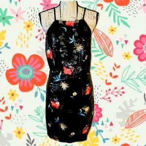 ☆ SEXY ☆ EMBROIDERED JET SEQUIN PARTY DRESS 2X NWT